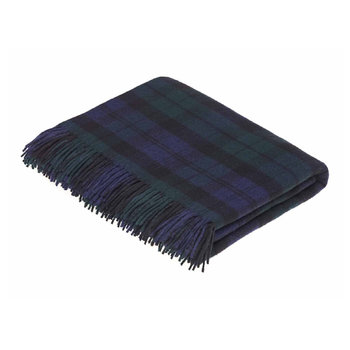 Merino Lambswool Tartan Throw - Black Watch