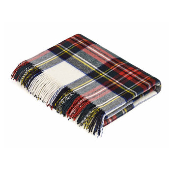 Merino Lambswool Tartan Throw - Dress Stewart