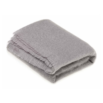 Mohair Throw - Slate Grey