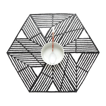 Pinwheel Placemat - Black