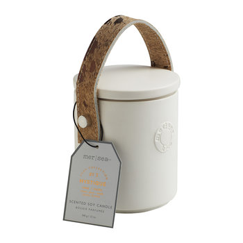 Luxe Cow Hide Handle Scented Candle - Mystique
