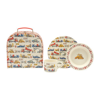 Melamine 3 Piece Children's Set - Builders at Work