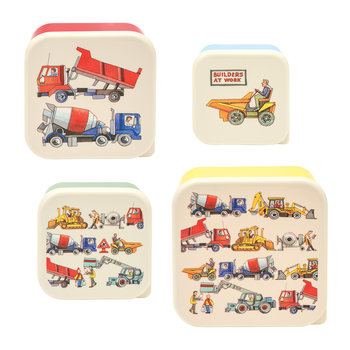 Builders at Work Snack Pots - Set of 4