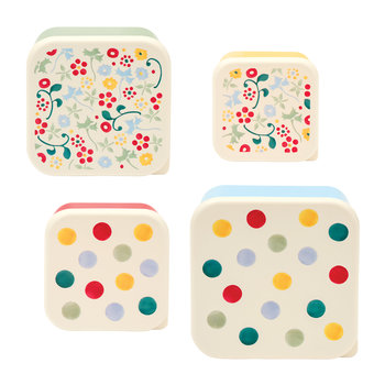 Polka Dot Snack Pots - Set of 4