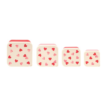 Pink Hearts Snack Pots - Set of 4