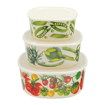 Veg Garden Melamine Storage Containers - Set of 3