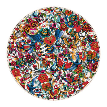 Tattoo Round Placemat - Multi