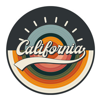 Set de table rond Californie