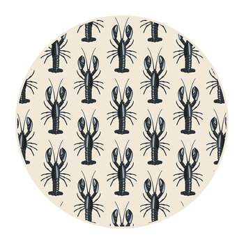 Lobster Round Placemat - Black/Cream