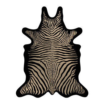 Zebra Vinyl Floor Mat - Black/Brown