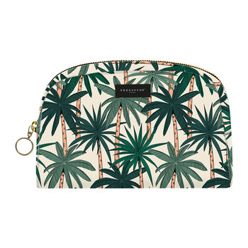 Palm Trees Make-Up Bag - Green