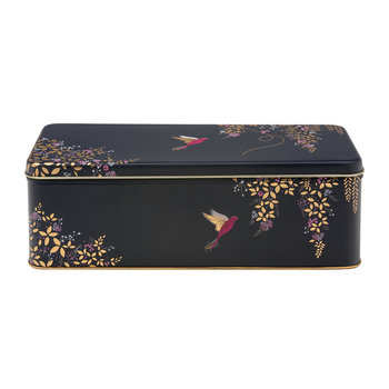Dark Blue Bird Rectangular Tin - Long
