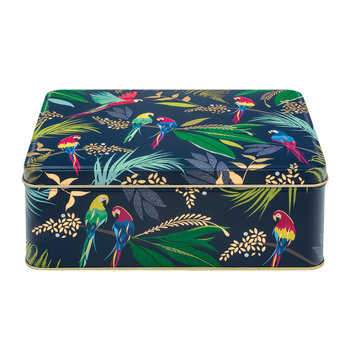 Parrot Rectangular Tin