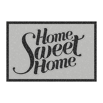 5th Avenue Home Sweet Home Vinyl Door Mat - Black