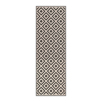 Squares Vinyl Floor Mat - Cream/Black