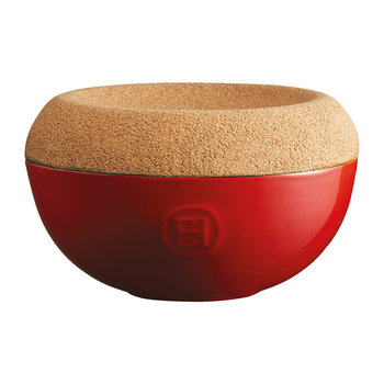 Salt Cellar with Cork Lid - Red