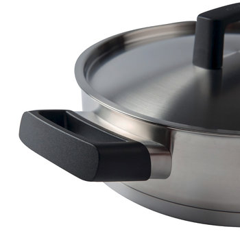 Ron Stainless Steel Deep Skillet - 24cm