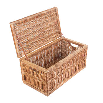 Light Steamed Linen Storage Basket