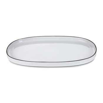 Caractere Oval Serving Dish - White