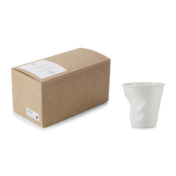 White Crumple Cups Gift Box - Set of 2
