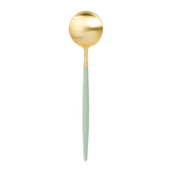 Goa Table Spoon - Gold/Mint Green