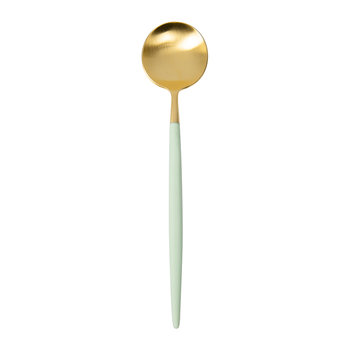 Goa Dessert Spoon - Gold/Mint Green