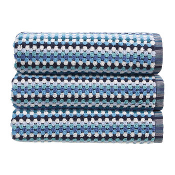 Carnaby Stripe Towel - Blue
