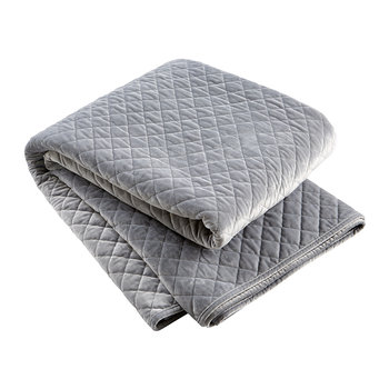 Edmonton Velvet Quilted Throw - Silver