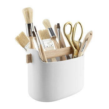 Utensil Toolbox - White & Wood - Long