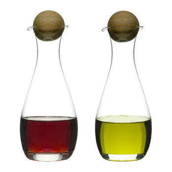 Nature Oil & Vinegar Bottles - Set of 2