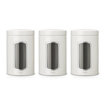 Window Canisters - Set of 3 - White