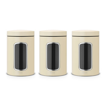 Window Canisters - Set of 3 - Almond
