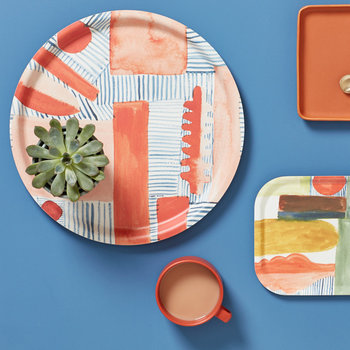 Block and Line Tray - Blush