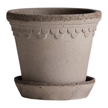 Copenhagen Plant Pot and Saucer - Grey
