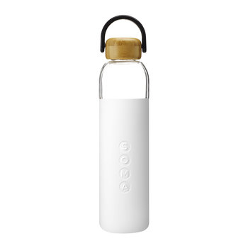 Glass Water Bottle - 750ml - White