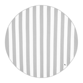 Cabana Round Beach Towel - Goa Grey