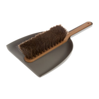 Beech Dustpan & Brush Set - Grey