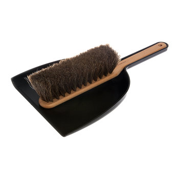 Beech Dustpan & Brush Set - Black