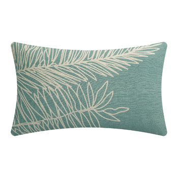 Palm Leaf Cushion - Mint Green