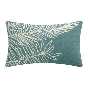 Palm Leaf Cushion - Aqua - 40x65cm