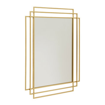 Square Mirror - Gold