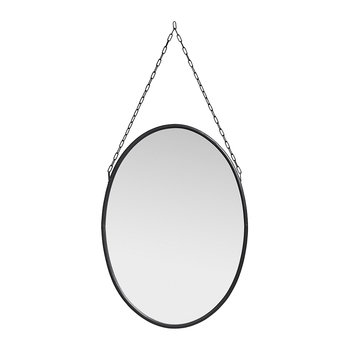 Downton Oval Mirror - Black