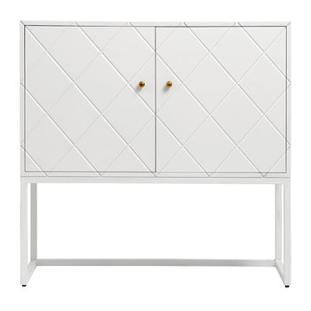 Buffet Squares Two Door Cabinet - White