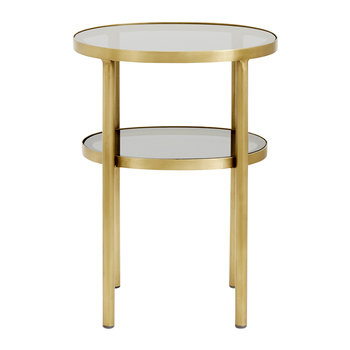 Table d'Appoint Ovale - Or/Noir