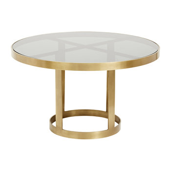 Round Coffee Table - Gold/Black