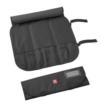Knife Case with 7 Compartments - Black