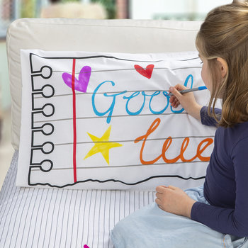 Doodle Notebook Pillowcase - 75x50cm