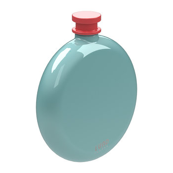 Skittle Round Hip Flask - Mint & Coral