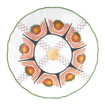 Bel Paese - Assiette à fruits orange