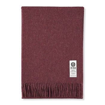 Emma Baby Alpaca Wool Throw - 130x200cm - Tawny Port Melange